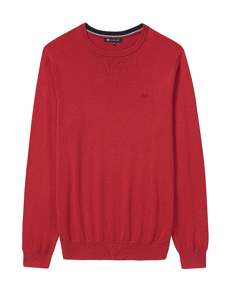 b85412f8c33a79 Men s Regatta Crew Neck Essential Knit in Classic Red from Crew ...