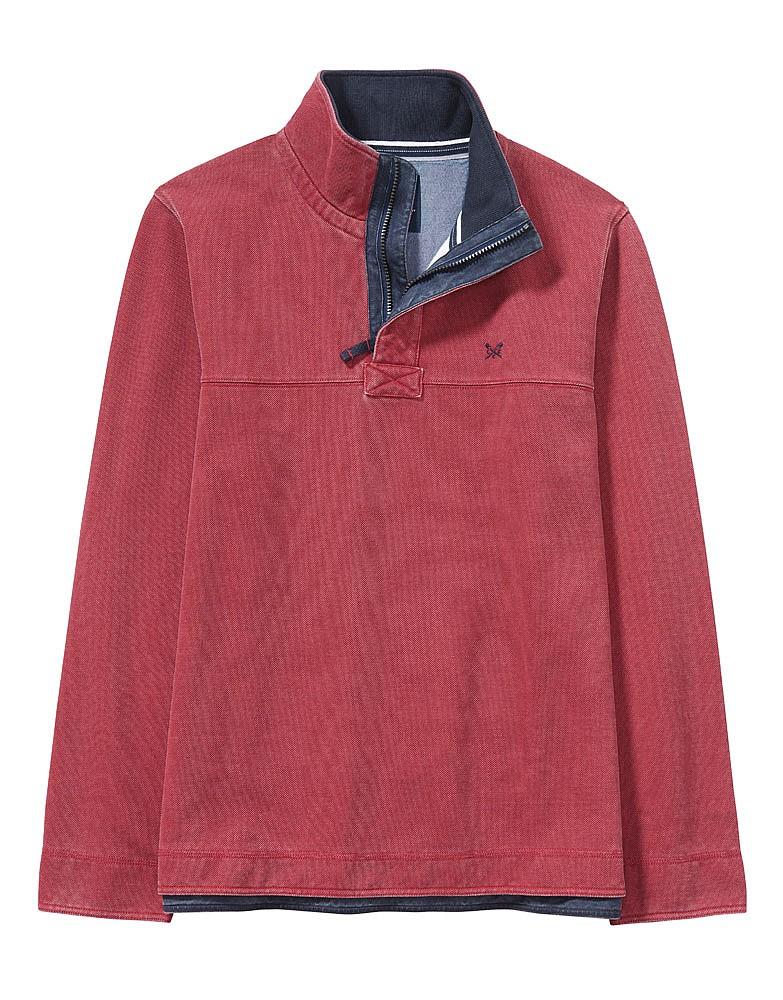 Padstow Pique Sweatshirt In Classic Red