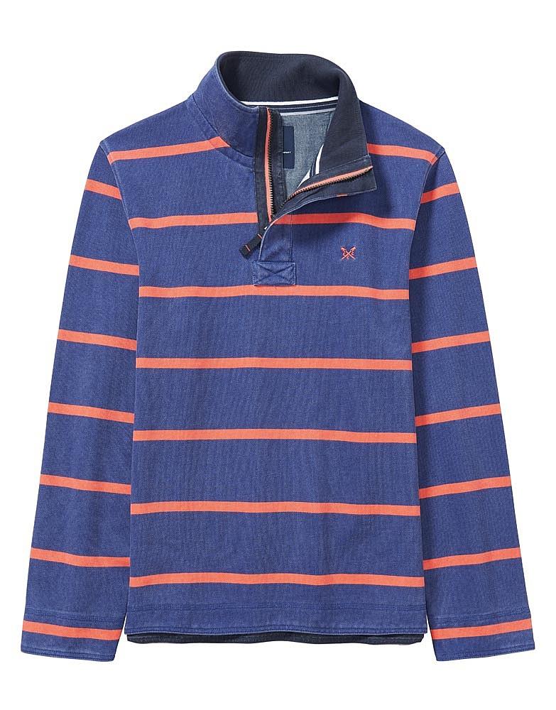 Padstow Pique Sweatshirt In Navy