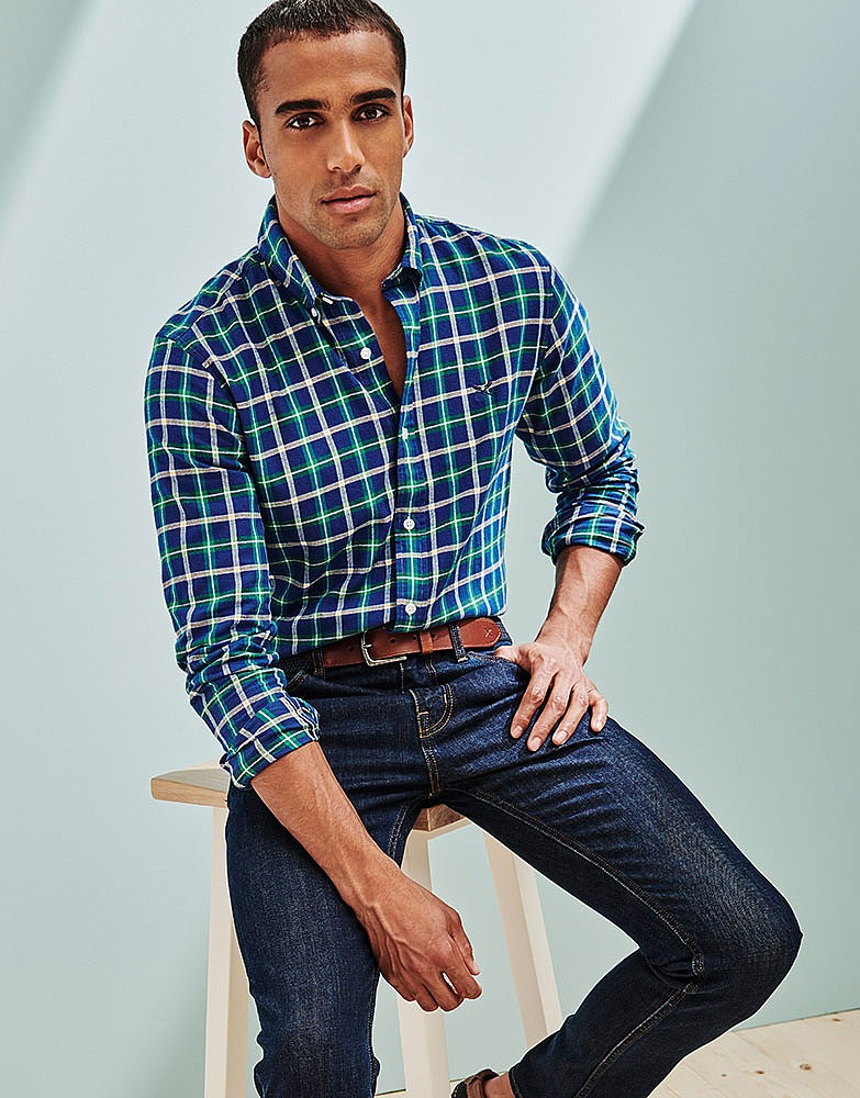 a32e5aaf0ff Men s ANDERBY CHECK SLIM FIT SHIRT from Crew Clothing Company