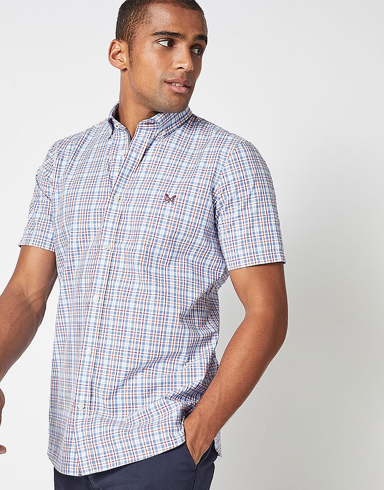 ae6b62a7a18 Men s MULTI CHECK SHORT SLEEVE SHIRT from Crew Clothing ...