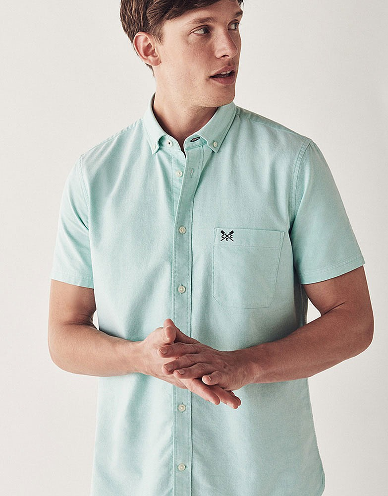 Men S Crew Short Sleeve Oxford Shirt From Crew Clothing