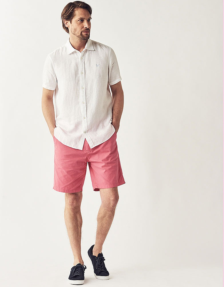 e668858719c Men s Bermuda Shorts in Summer Pink from Crew Clothing Company