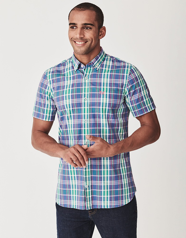 Raven Pop Short Sleeve Check Shirt