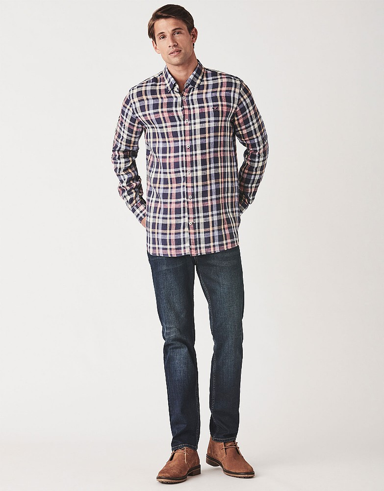 Glenburn Classic Fit Long Sleeve Linen Shirt