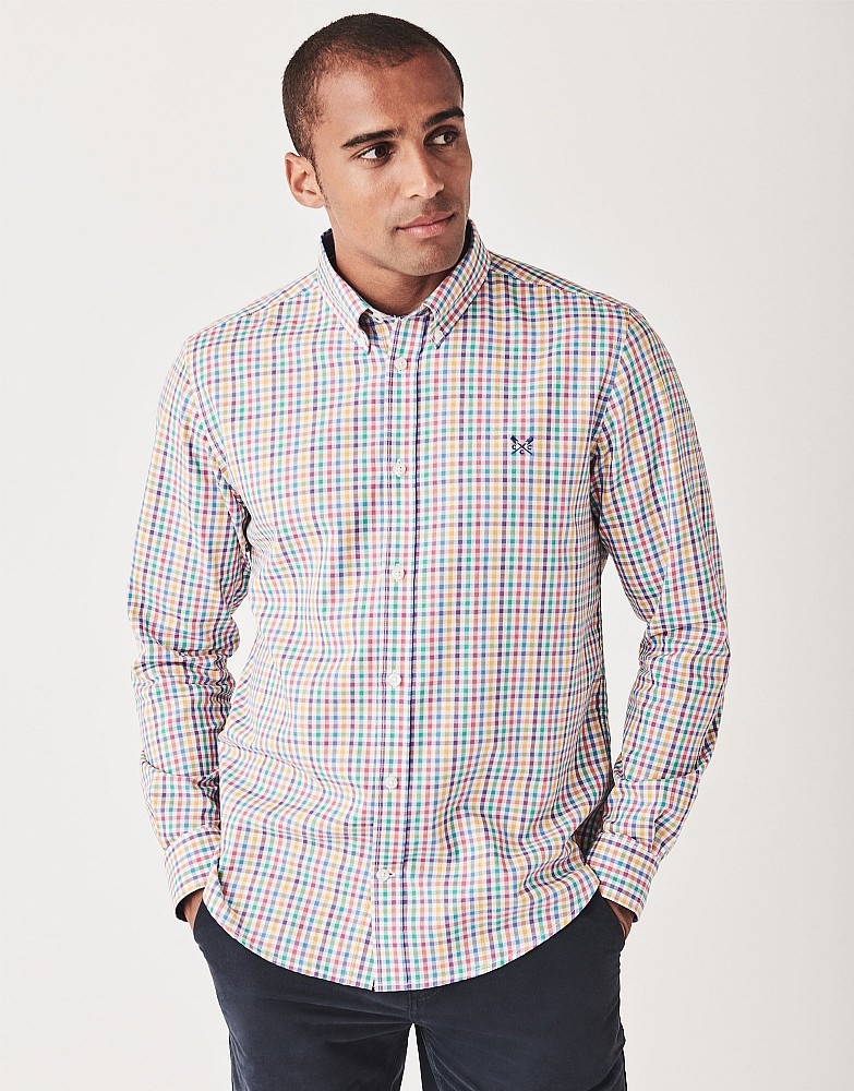 Warwick Long Sleeve Classic Fit Gingham Shirt