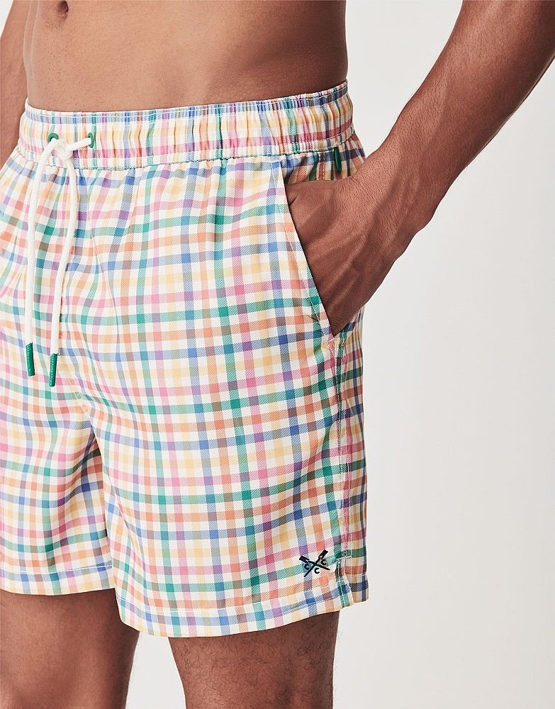 Multi Gingham Swim Shorts