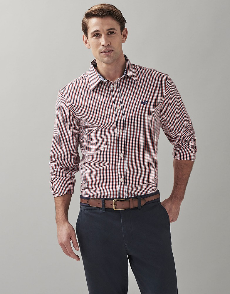 Long Sleeve Classic Fit Tattersall Shirt