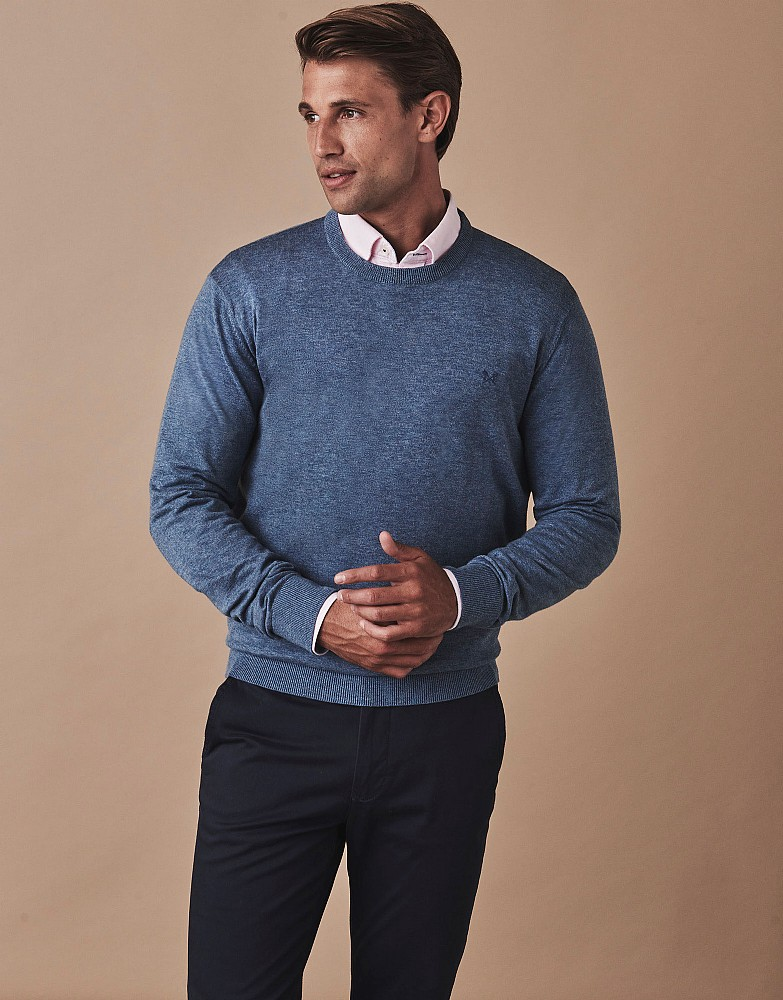 Holywell Heathered Crew Neck Jumper