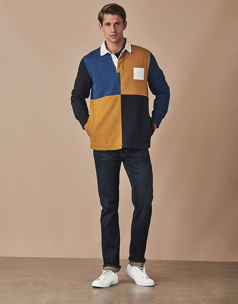 Colour Block Rugby Sweatshirt