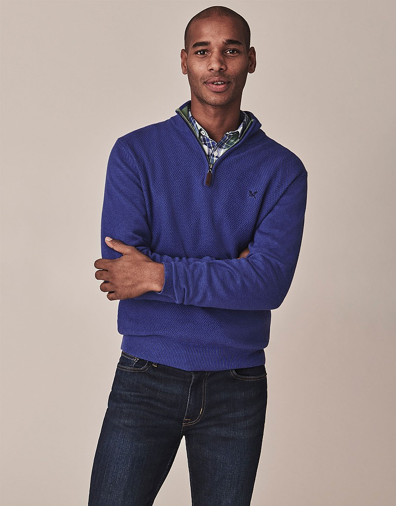 Bramble Stitch Half Zip Jumper