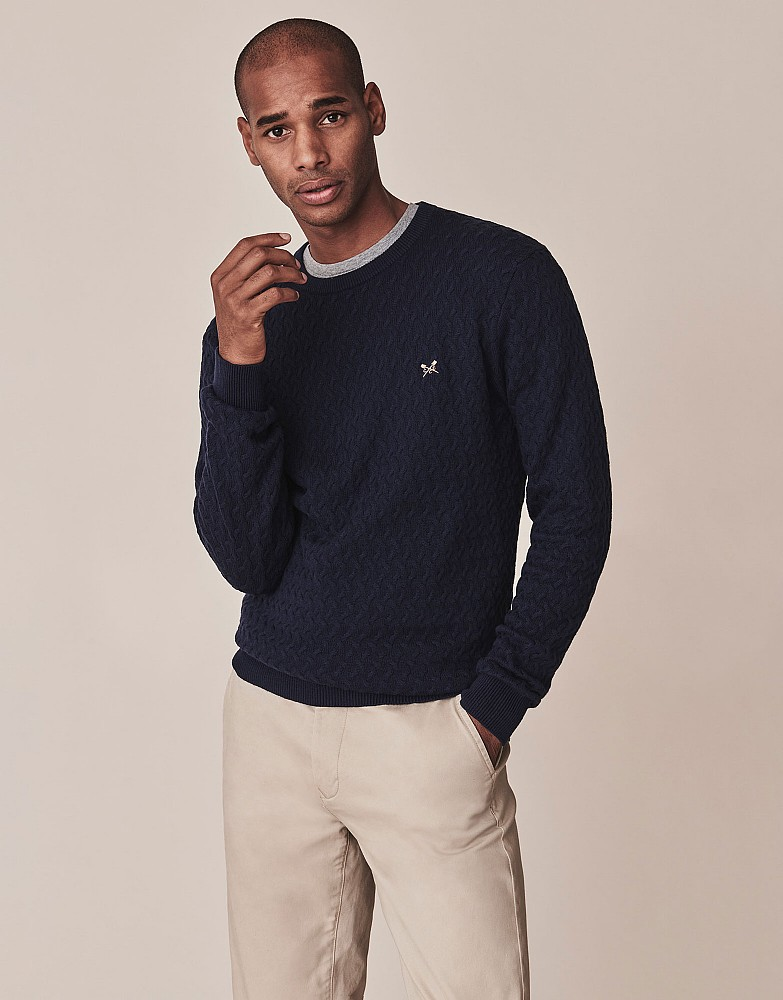 Travelling Cable Crew Neck Jumper