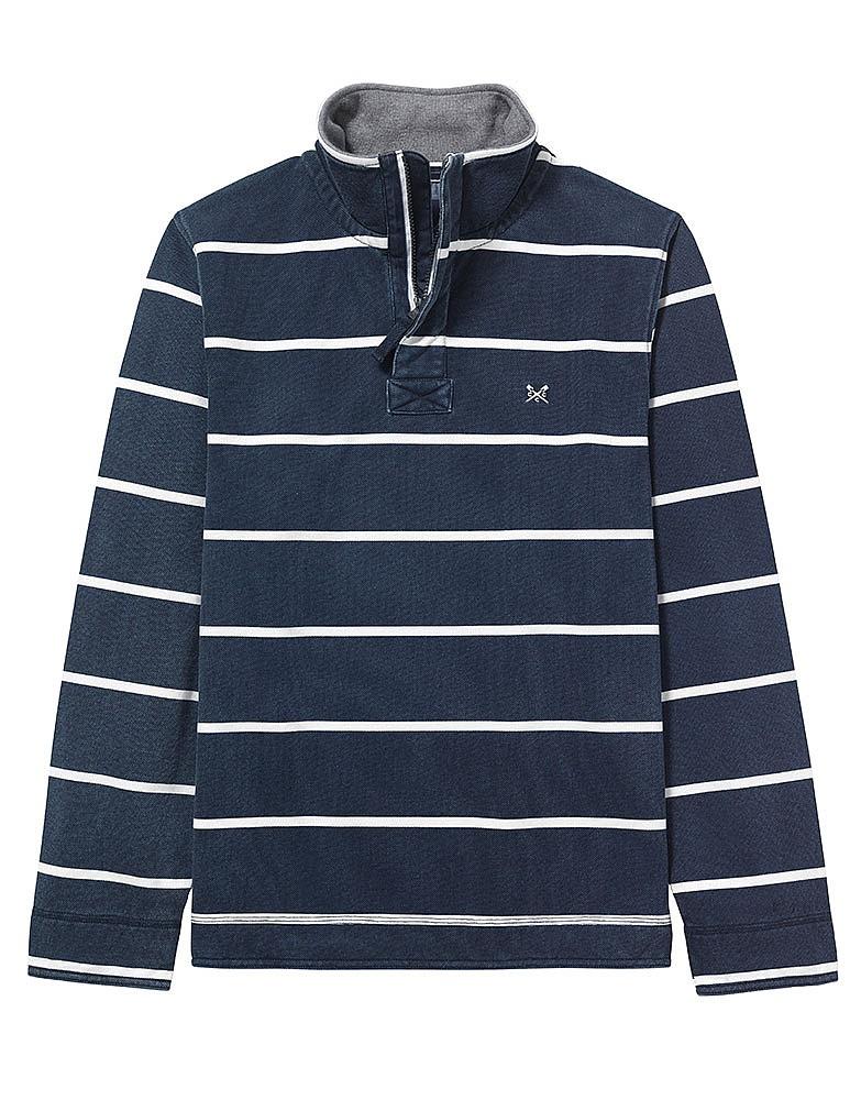 Padstow Pique Sweatshirt in Dark Navy