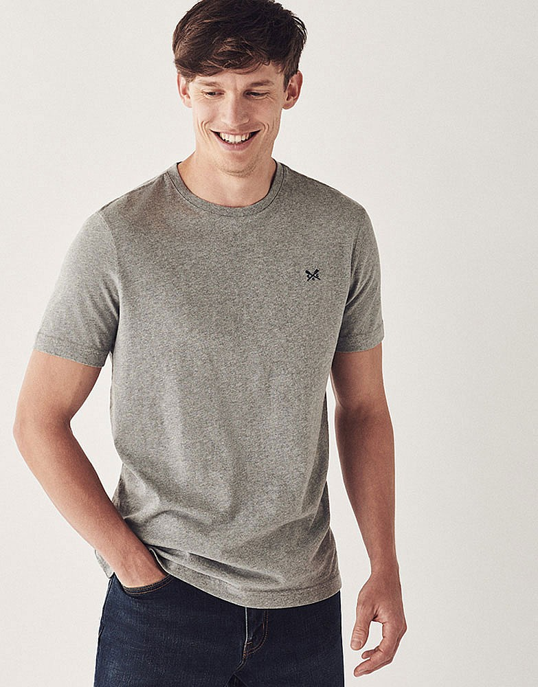 8bcc89961844 Men s Crew Classic Tee in Light Grey Marl from Crew Clothing