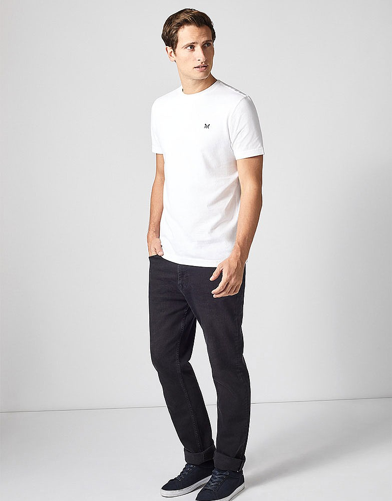 08815213546d Men s Crew Classic Tee in Optic White from Crew Clothing