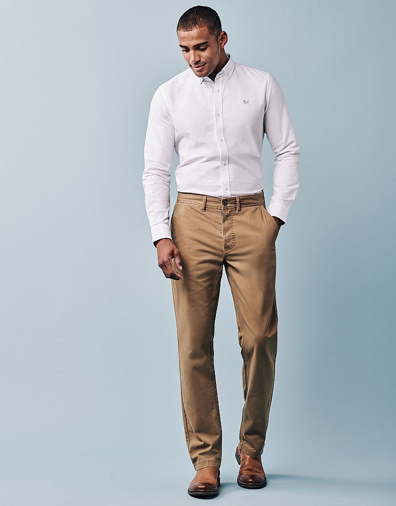 Mens Vintage Chino Trousers Crew Clothing oqTlVpxe