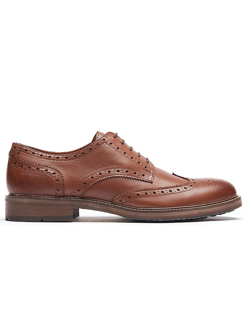 s classic leather brogue shoe in from crew