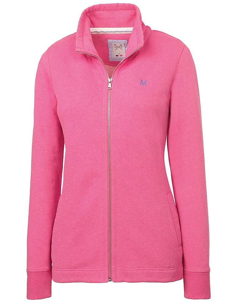 Women 39 s fendale zip through sweat in bright pink marl from for How to not sweat through a shirt