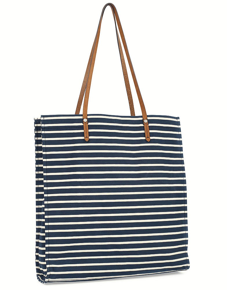 Women s Beatrice Bag in Navy White Tan from Crew Clothing 13ea59894e