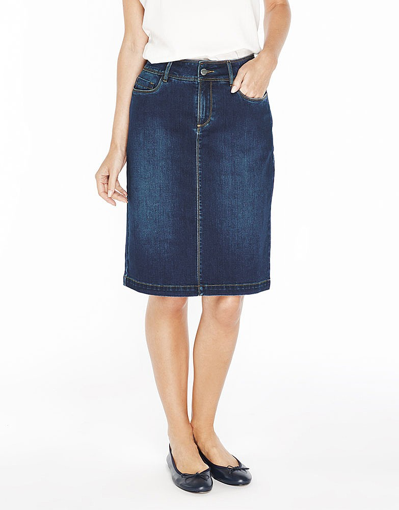 Women's Uma Denim Skirt in Indigo from Crew Clothing