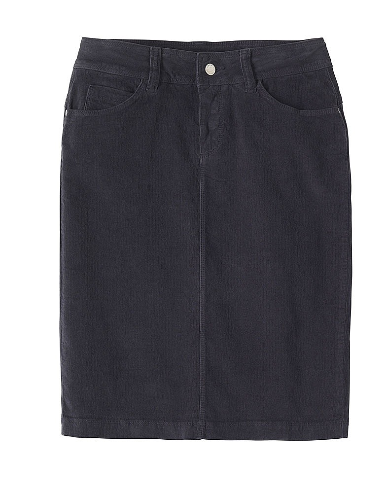 s clem cord skirt in charcoal from crew clothing