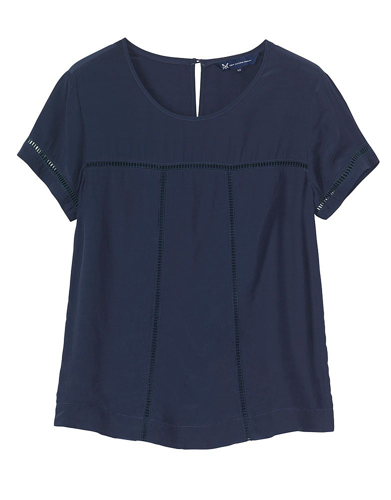 s ladder lace top in navy from crew clothing