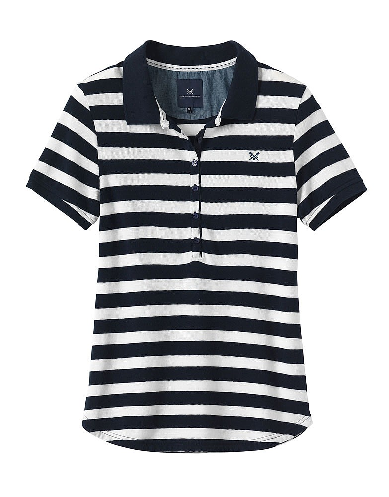 Heritage Polo - White and Navy