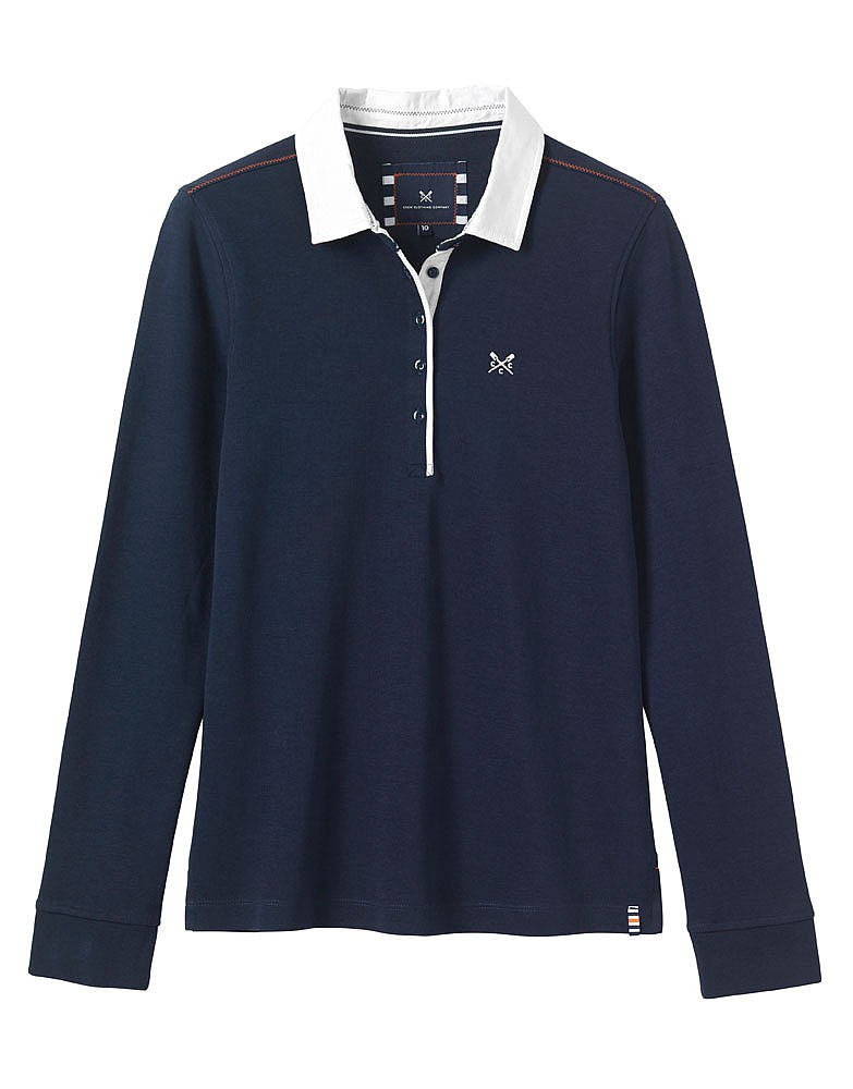 s crew club levens sleeve rugby in navy from
