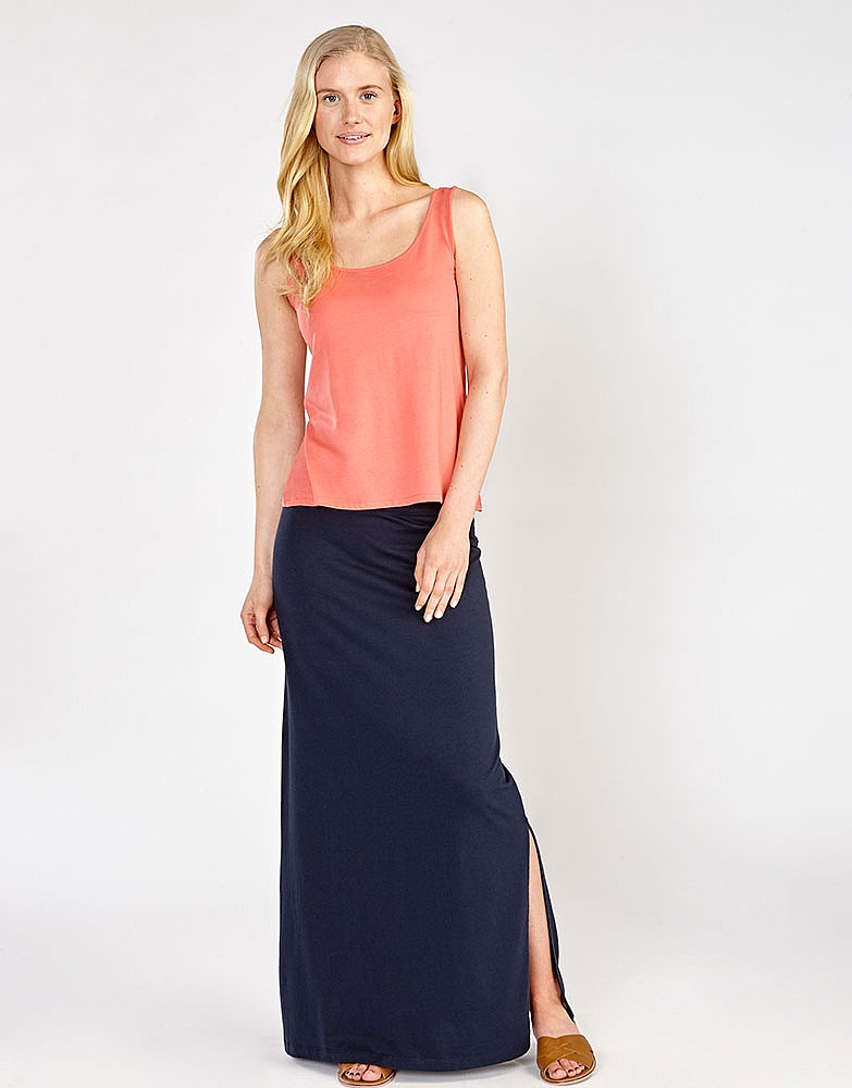 Women's Jersey Maxi Skirt in Navy from Crew Clothing