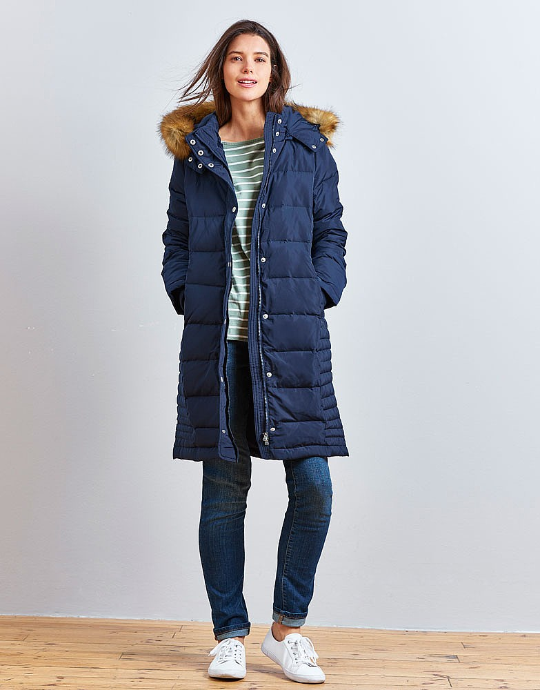 Navy Down Coat | Fashion Women's Coat 2017