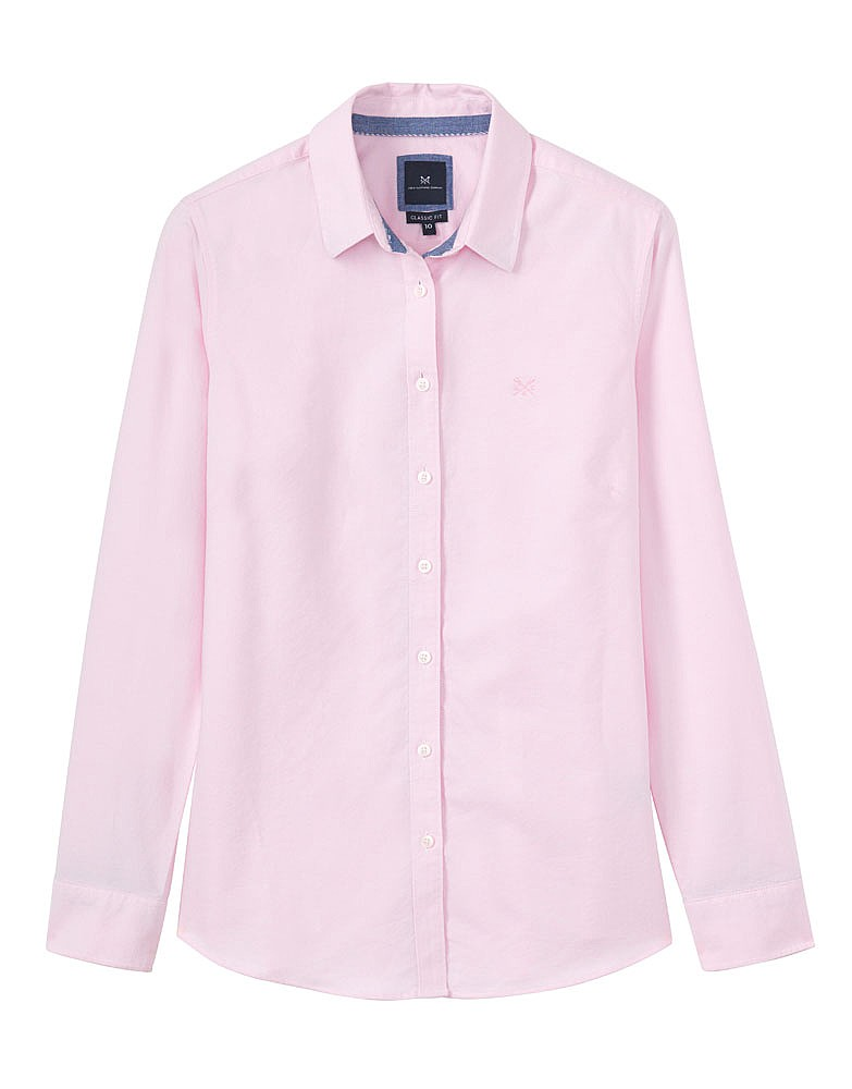 Women 39 S Classic Oxford Shirt In Classic Pink From Crew