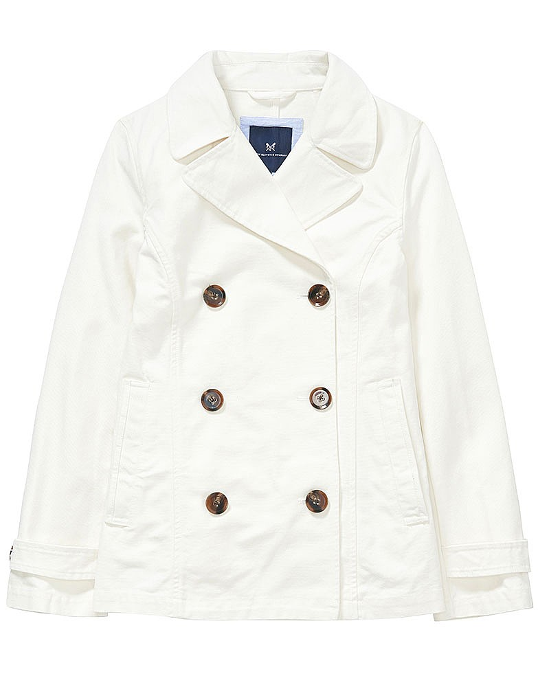 Cotton Reefer Jacket In White