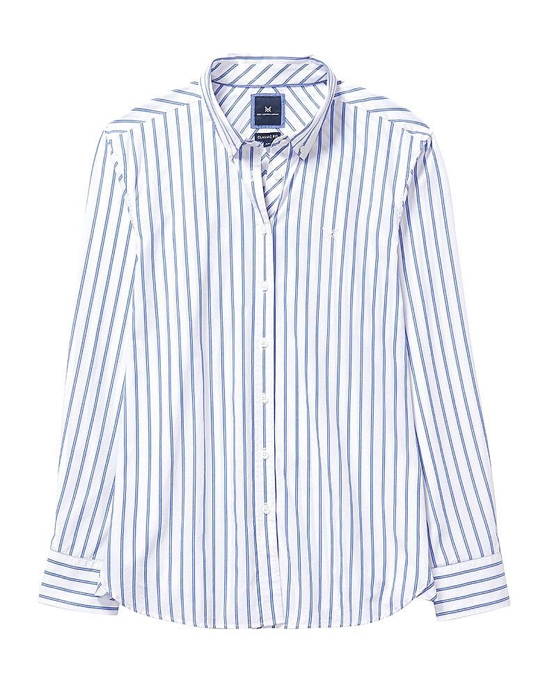 Women's Austell Double Pin Stripe Shirt in Blue/White Stripe from ...