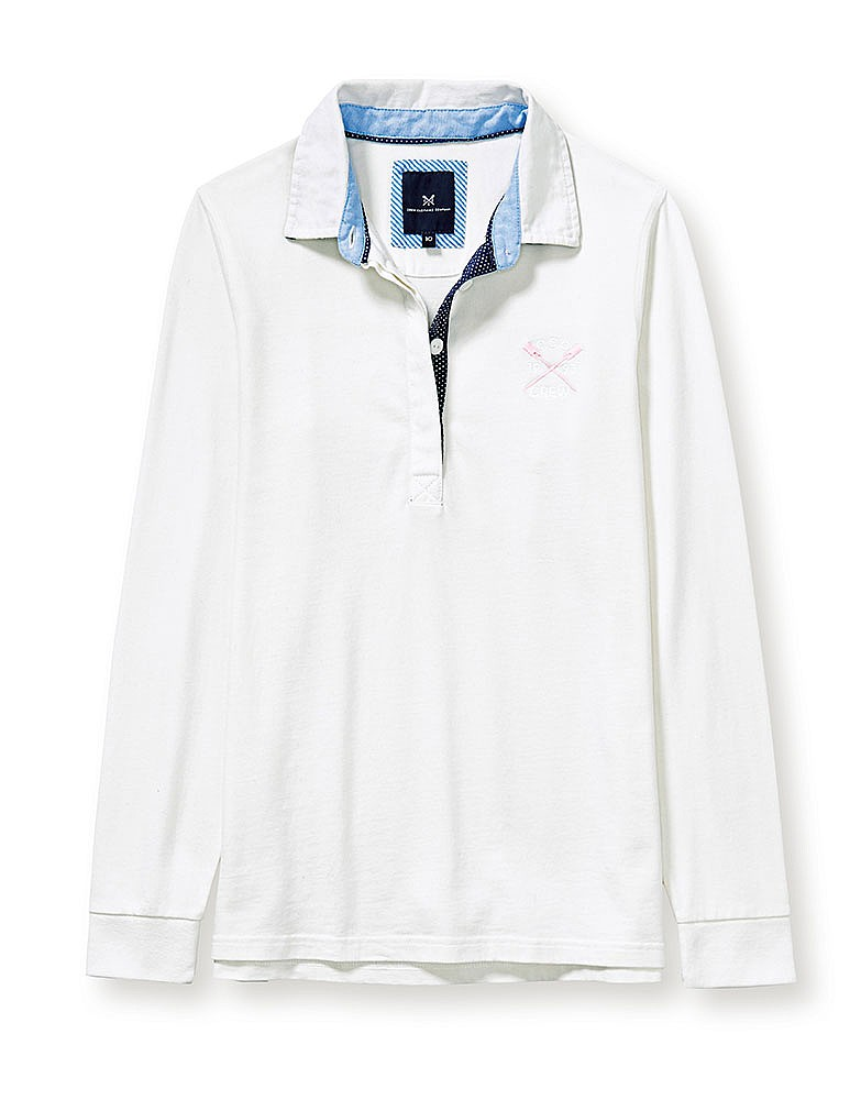 Classic Anniversary Rugby Shirt In White