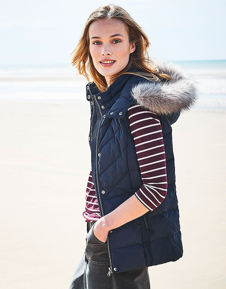 3d674ae13 Women s Down Gilet in Dark Navy from Crew Clothing