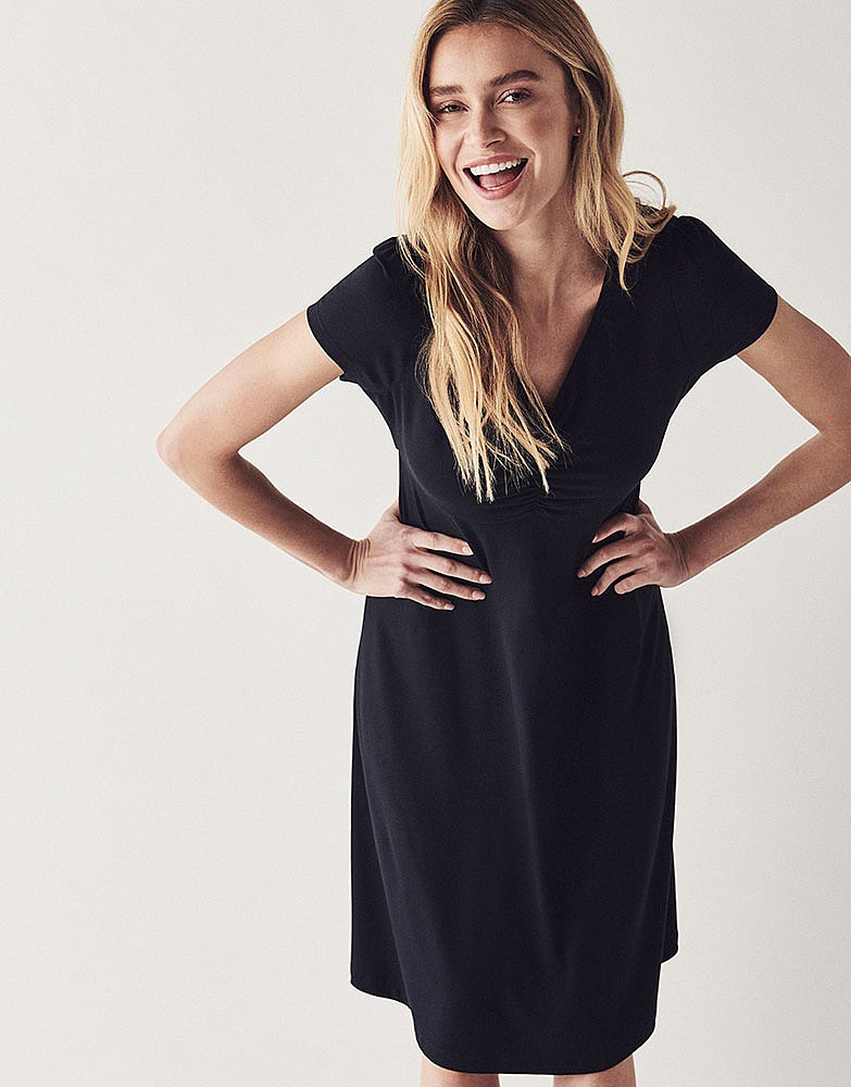 9d8c5a660db Women s Woven Tea Dress in Black from Crew Clothing
