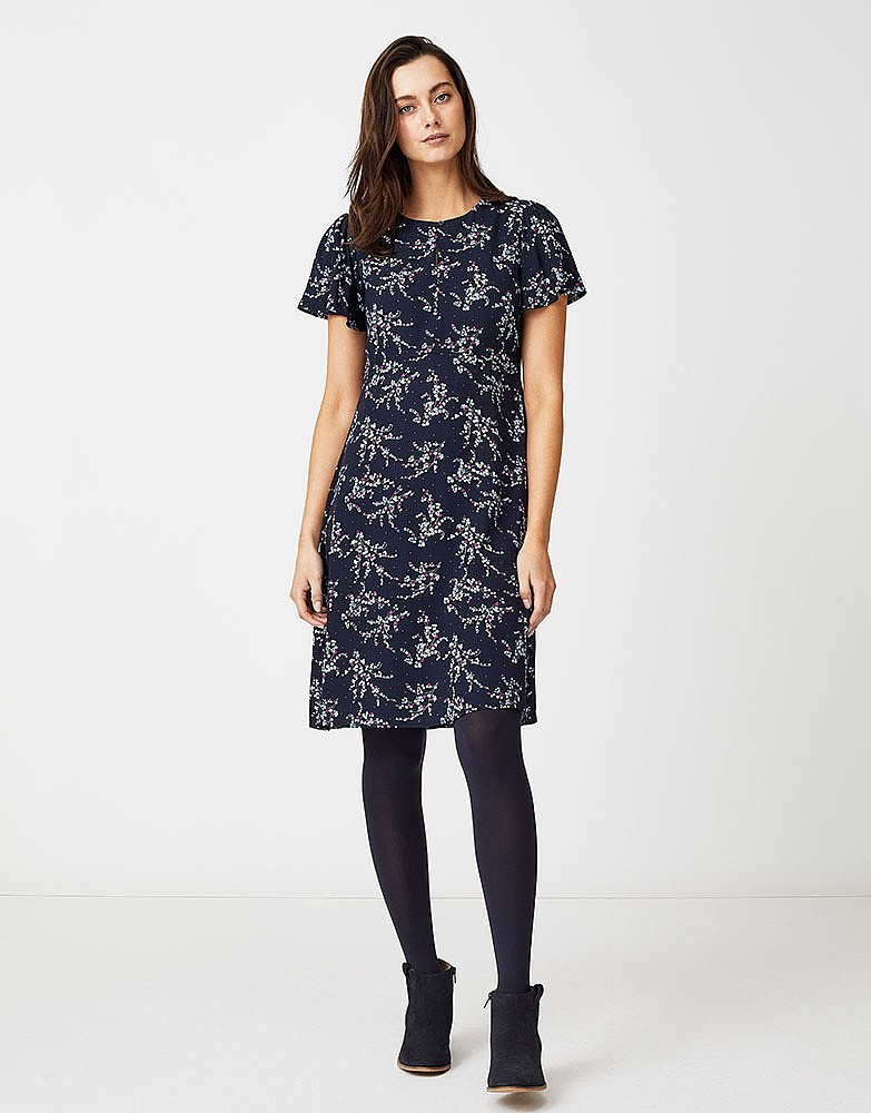 Women s Woven Tea Dress in Navy from Crew Clothing 21db420a7