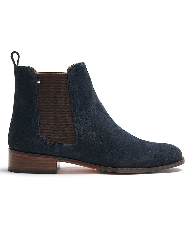 Women s Chelsea Boot in Navy Suede from Crew Clothing 1ecffe489