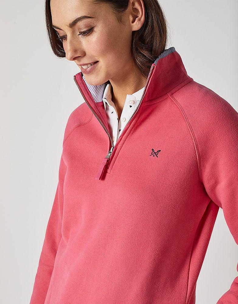 fe80ef27881 Women s 1 2 Zip Sweat in Summer Pink from Crew Clothing