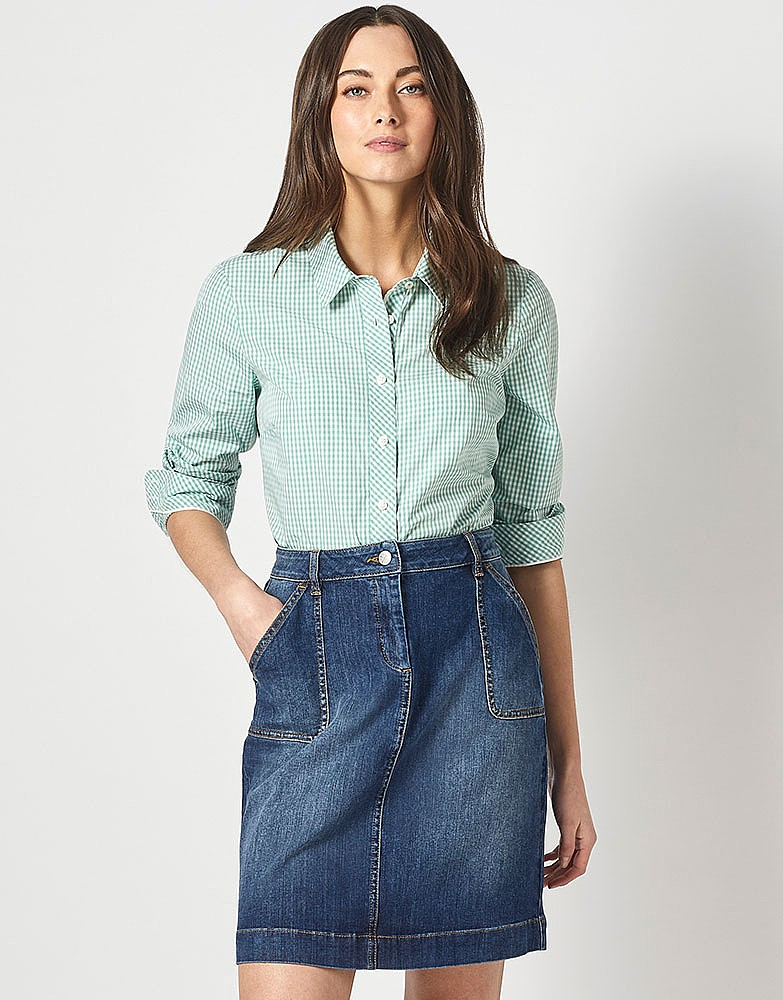 932cc385dc2 Women s Denim Pocket Skirt from Crew Clothing