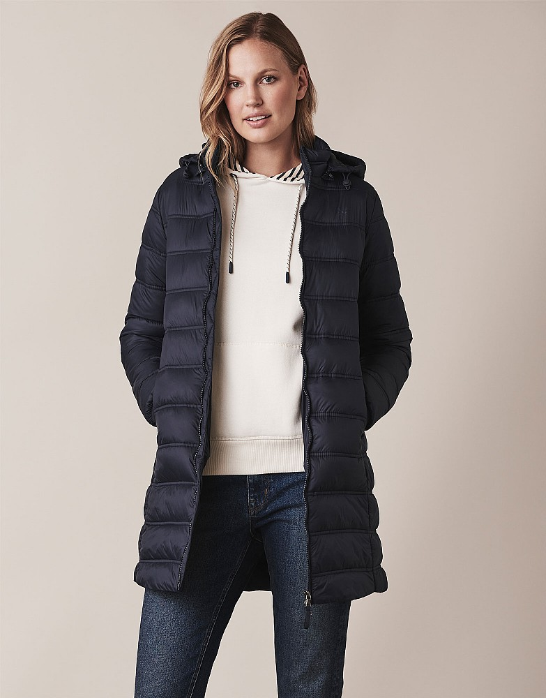 Women's Lightweight Padded Long Jacket from Crew Clothing Company