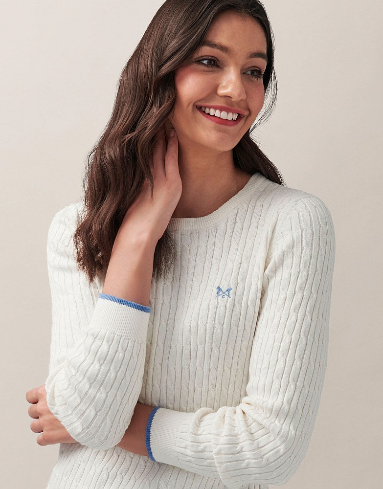 Heritage Crew Neck Cable Jumper