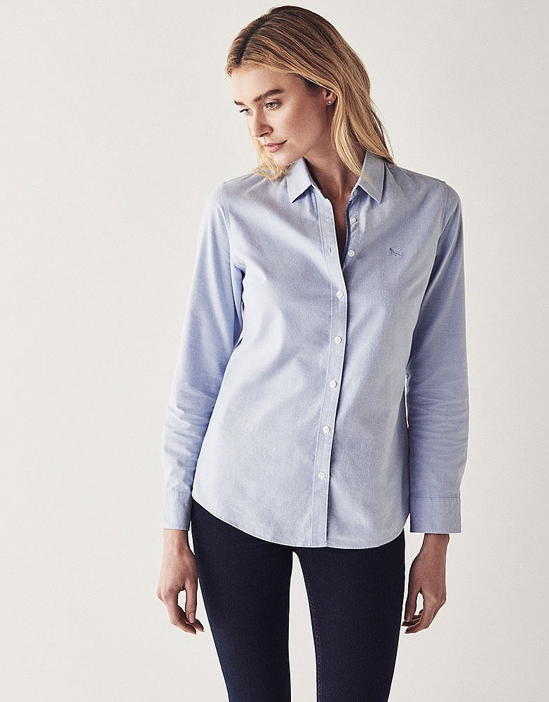 Women 39 s heritage classic oxford shirt in classic blue from for Women s broadcloth shirts