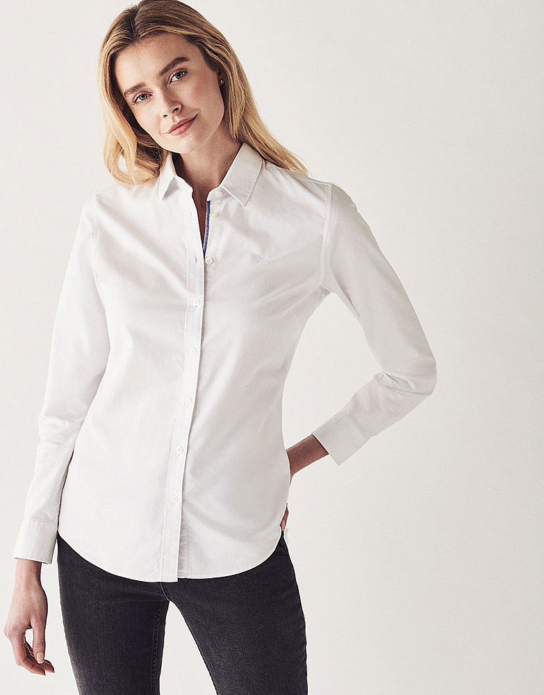 Women 39 s heritage classic oxford shirt in optic white from for White oxford shirt women