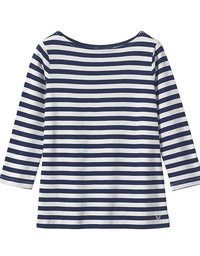 Women's Ultimate Breton Tee in Navy/White Linen Stripe ...
