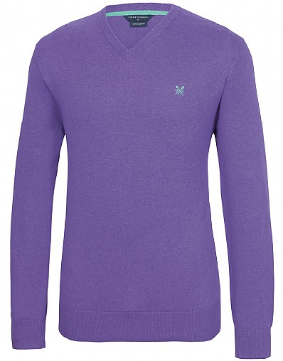 Foxley V-Neck Jumper Fine Gauge