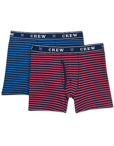 2 Pack Double Stripe Boxer Shorts