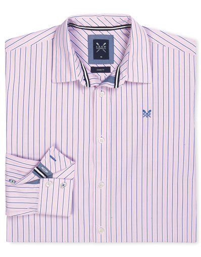 Taddington Classic Fit Stripe Shirt