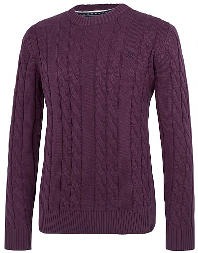Avebury Cable Crew Neck Jumper