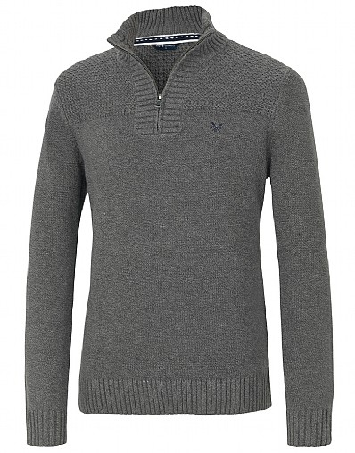 Vale Tweed Half Zip Jumper
